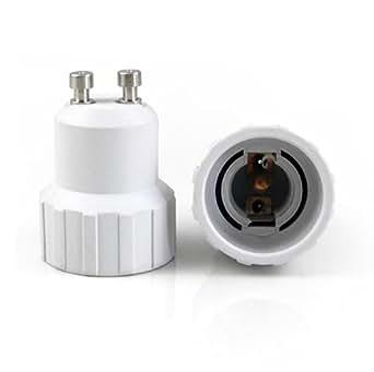 adaptateur d 39 ampoule led cfl convertisseur de douille gu10 vers e14 luminaires et. Black Bedroom Furniture Sets. Home Design Ideas