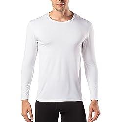 LAPASA Pack de 2 Camiseta Térmica de Manga Larga para Hombre (L, Blanco)