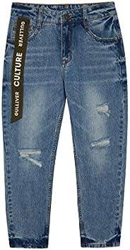 GULLIVER Pantalones Vaqueros Rotos para Teen Niño Color Azul, Algodón, Casual Distressed Jeans para 9-14 Años