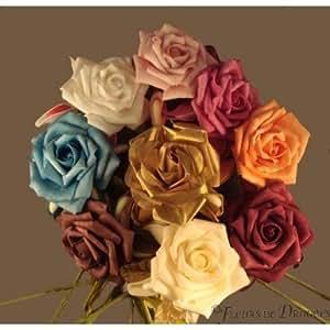 Rose sur Tige 5 raquettes à dragées - Fushia