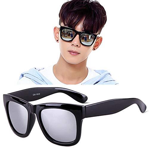 QKA Die Sonnenbrille der koreanischen Sonnenbrille-Männer quadrieren 2018 den neuen schwarzen Retro- Polarisator, der Fahrerspiegelmyopie fährt