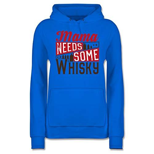 Statement Shirts - Mama Needs Some Whisky - XL - Himmelblau - JH001F - Damen Hoodie