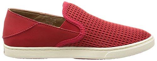 Olukai Woman Sneaker Pehuea Leather Clay Ohia Red/Ohia Red