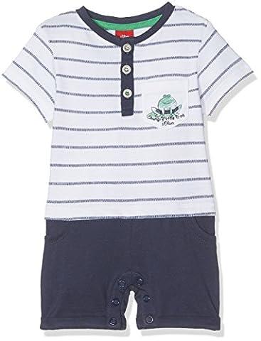 s.Oliver Baby-Jungen Spieler Overall Weiß (White Stripes 01G0), 86