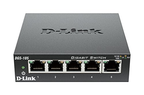 D-Link DGS-105/E 5-Port Layer2 Gigabit Switch schwarz