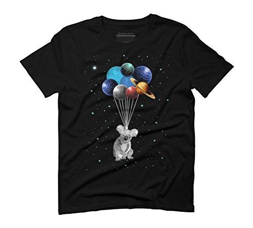 Koala Space Celebration Men's Graphic T-Shirt - Design By Humans Black
