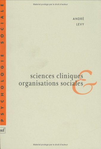 Sciences cliniques et organisations sociales