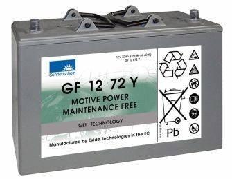 Preisvergleich Produktbild GF12072Y Sonnenschein Batterie (GF1272Y / GF 12 72 Y)