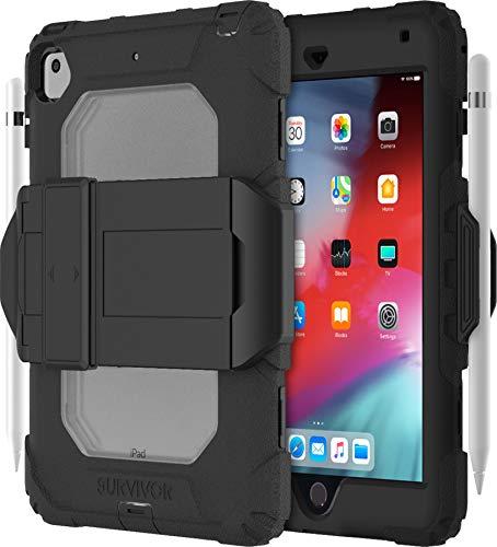 Griffin Survivor All Terrain Case Schutzhülle kompatibel mit Apple iPad mini 5 (2019) / mini 4 - Designed nach US Militärstandard [Standfunktion I Integrierte Displayschutzfolie I Pencil-Halter] (Ipad Case Griffin Survivor 4)