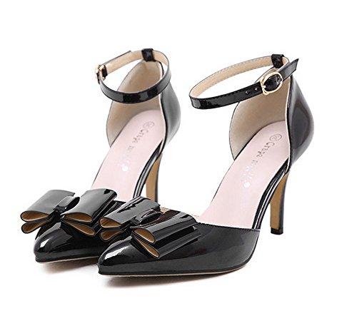 1to9mmsg00077 - Sandales Compensées Pour Femmes, Noir
