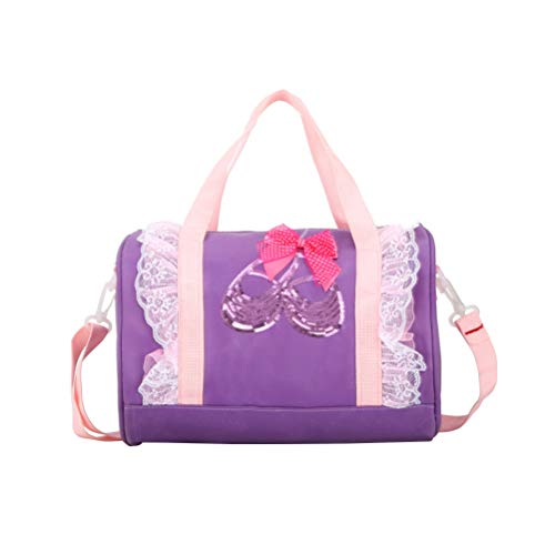 TENDYCOCO Tote Bag Schulter Dance Bag Lace Ballett Duffle für Ballerina Dancer Kid (Violett) -