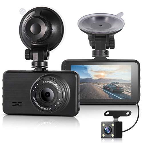 Digital Auto-kamera-dvr (ULU Auto-Dashcam FHD 1080P Front- und 720P Rückkamera Dual Kamera 170° + 120° Digital Armaturenbrett Kamera Auto DVR mit 7,6 cm IPS Display Nachtsicht G-Sensor Parkmonitor WDR Loop Aufnahme)