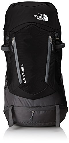 The north face, terra 50, zaino, unisex adulto, nero (tnf black/asphalt grey), l/xl