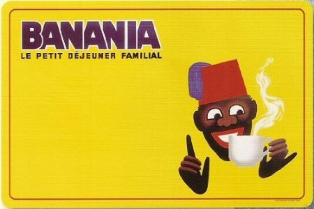 SET DE TABLE CHOCOLAT BANANIA TIRAILLEUR PAR MORVAN