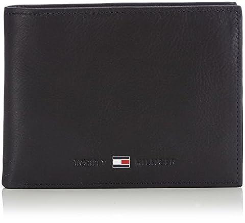 Tommy Hilfiger JOHNSON CC AND COIN POCKET AM0AM00659 Herren Geldbörsen 14x10x2 cm (B x H x T), Schwarz (BLACK