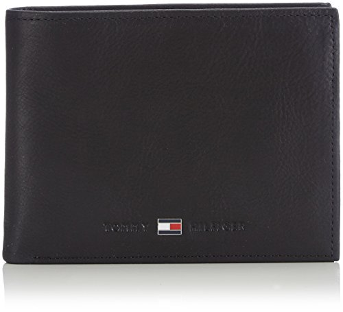 Tommy Hilfiger JOHNSON CC AND COIN POCKET AM0AM00659 Herren Geldbörsen 14x10x2 cm (B x H x T), Schwarz (BLACK (Geldbörsen Tommy)