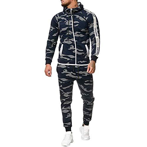 Herren Camouflage Jogging Anzug Männer Sweatshirt Hose Sets Herbst Winter Hoodie Sport Casual Strickjacke Modisch Klassisch Trainingsanzug - Ribbed Knit Tunika