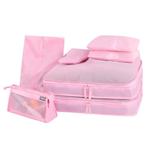 YONGJUN Bolsa De Viaje A Prueba De Agua Siete Traje De Equipaje Ropa Bolsas De Acabado Paquete Digital Bolsa De Lavado Bolsa De Cosméticos ( Color : Pink )