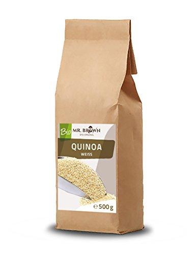 Mister Brown BIO Quinoa weiß 500 g | aus kontrolliert biologischem Anbau | abgefüllt in Deutschland