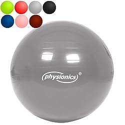 Gymnastikball 75cm Silver Star (grau) Fitness- / Sitzball inkl. Pumpe