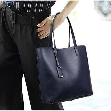 SUNNY KEY-Borsa a tracolla @ Donna Borsa a tracolla PU (Poliuretano) Per tutte le stagioni Baguette Cerniera Blu Nero , black black