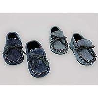 Zapatos Mocasines Náuticos de bebé en tela vaquera y forrados