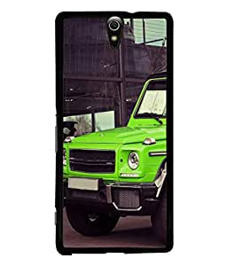 PrintVisa Designer Back Case Cover for Sony Xperia C5 Ultra Dual :: Sony Xperia C5 E5533 E5563 (Classy Huge Jeep Design In Green)