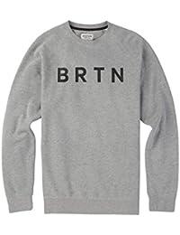 Burton brtn Crew felpa, Uomo, BRTN CREW, Grigio erica, L