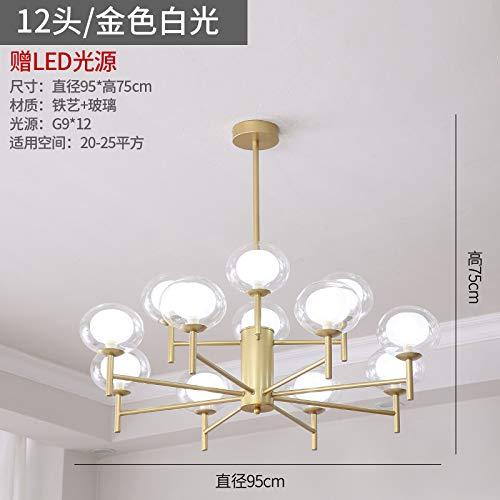 Nordic Wohnzimmer Kronleuchter einfache Schlafzimmer net rote Lampen Hersteller zwölf goldenes weißes - Glühbirne Und Steckdose Kostüm