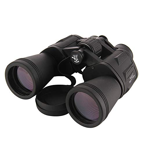 Flybiz Prismáticos, Telescopio Binocular Plegable Compacto 10 * 50, Revestimiento FMC y Clase de Prisma BAK-4, Resistente al Agua y A Prueba de Niebla, ppara Observación de Aves, Conciertos