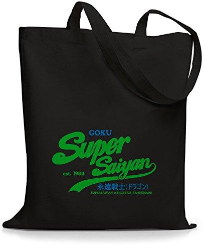 StyloBags Jutebeutel / Tasche Goku Super Saiyan bluegreen Schwarz