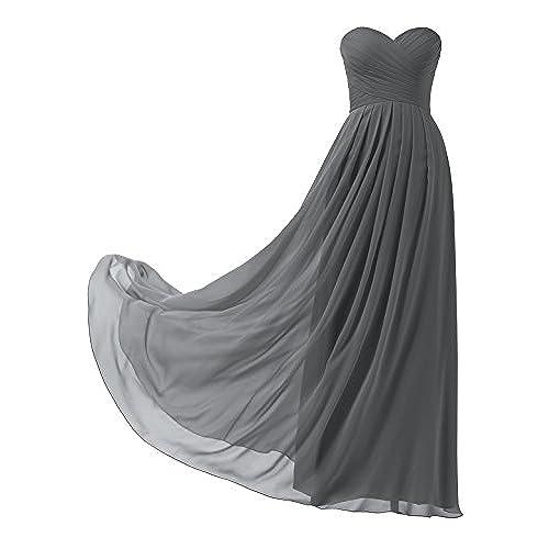 Abendkleider Lang Grau: Amazon.de