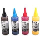 HEMEI 4 bouteilles d'encre Sublimation pour Epson / Ricoh 4 couleurs imprimantes, la chaleur Presse transfert d'encre ,4 x 100ml Encre de transfert de chaleur