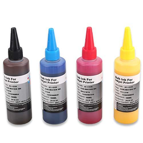 HEMEI Tinta sublimación 4 botellas impresoras 4 colores