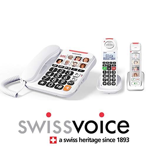 Funk-Telefon-Set Senior mit Anrufbeantworter Swissvoice Xtra 2155 Trio Photo