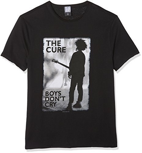Amplified The Cure-Boys Don't Cry, T-Shirt Homme, Black (Black BK), L