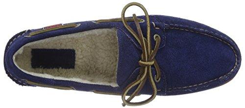 Sebago Herren Docksides Shearling Bootschuhe Blau (Navy Suede)