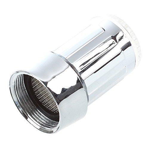 SODIAL(R) bunte LED Wasserhahn Leuchtender LED Licht Wasserhahn mit Temperatursensor Farben(Gruen/Rot/Blau),Wasser-Strom-Hahn 3 Farben durch Wasserdruck (bunten LED Wasserhahnfilter) -
