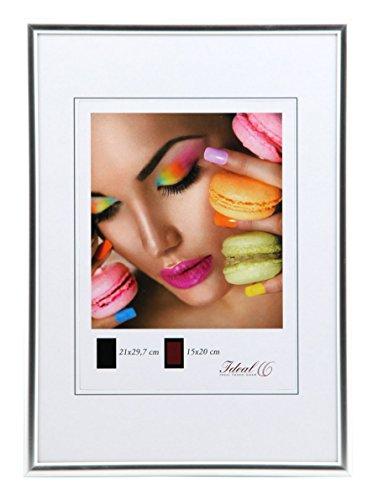 Ideal Life Kunststoff Bilderrahmen 10x15 cm bis 50x70 cm Bilder Foto Rahmen: Farbe: Silber | Format: 50x70