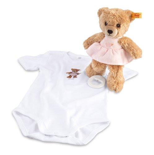 Steiff 239755 - Geschenkset Schlaf Gut Bär Spieluhr, rosa