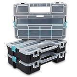 Navaris Contenitore portaminuterie Organizzatore minuteria - 3x Cassetta a scomparti per attrezzi - Vaschetta Organizer arnesi piccoli oggetti - tripla