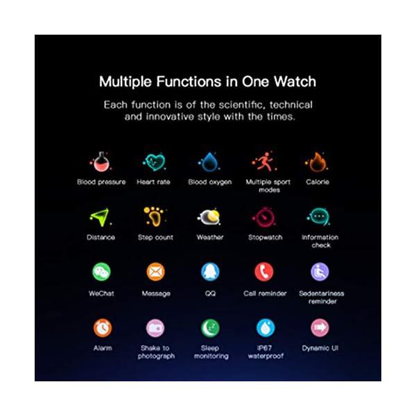 Ayete Smartwatch Fitness Tracker con frecuencia cardíaca Monitoreo de la presión Arterial Salud Deporte Reloj… 7