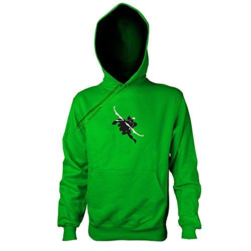 TEXLAB - Frost Archer - Herren Kapuzenpullover, Größe M, grün (Ashe League Of Legends Kostüm)
