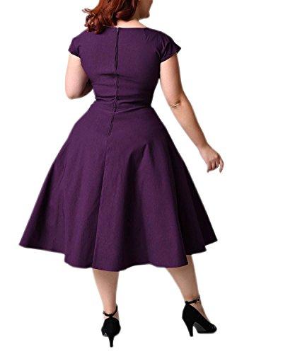 e02b2cac5b7 BIUBIU Women s 50s Plus Size Vintage Swing Dress Bridesmaid Cocktail ...