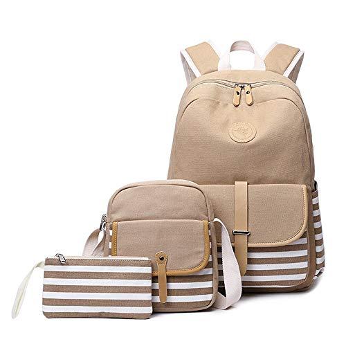 Willsego borsa da donna in tela di grande capacità (colore : cachi, dimensione : 43x30x14cm)