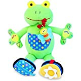 My PAL Jumper the Frog Activity Toy - Best Educational Toy for Babies and Toddlers 9 Mos. To 3 Yrs - The Safe, Cuddly and Fun Way to Help Your Child Learn by Itsy Bitsy Baby Boo