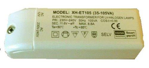 Preisvergleich Produktbild Halogen Trafo XH-ET105 (35-105VA) 105VA 105W 112x39x28mm elektronisch Transformator Neu