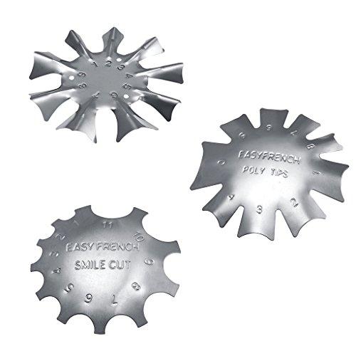 3x Edge Trimmer Smile Nagel Schablonen Cutter Acryl UV Gel Nagel Modellage -