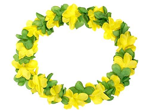 Juego-de-60-unidades-de-collares-hawaiane-hk-14-verde-amarillo-textil-color-Hawai-Hawaii-flor-accesorios-decoracin-Beach-Party-Fiesta-Tropical-Summer-Tifosi-boda-aniversario-Ftbol-europeos-Mundial