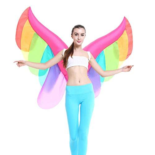 Aufblasbares Kostüm Fan - GLXQIJ Erwachsener Aufblasbarer Schmetterlings-Regenbogen Beflügelt Feenhafte Partei-Halloween-Kostüm-Dekor, Mit Der Aufblasbaren Fan-Ausrüstung, Batteriebetrieben,Butterfly,OneSize